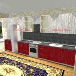 Кухня белый и красный дождь