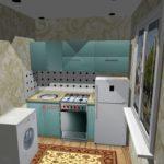 Кухня бирюза
