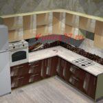 Кухня духовка вверху