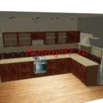 Кухня открытый верх