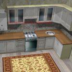 Кухня с навесным газовым котлом