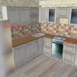Кухня с плиткой мазайка