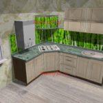 Кухня со скинали