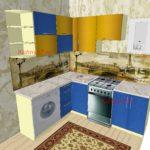 Кухня со стиральной машинкой