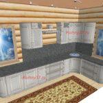 Кухня в бревенчатый дом