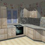 Кухонный гарнитур с мойкой в подоконнике