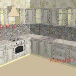 Угловая большая кухня