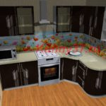 кухня со стеклами